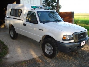 Ambulancia de rescate en camioneta Ford